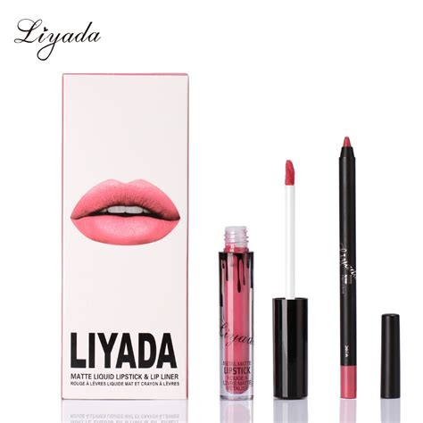 Lipgloss Lasting 2 pcs set kilie lipstick matte lipgloss lasting lip
