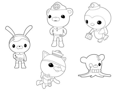 free coloring pages of gups octonaut