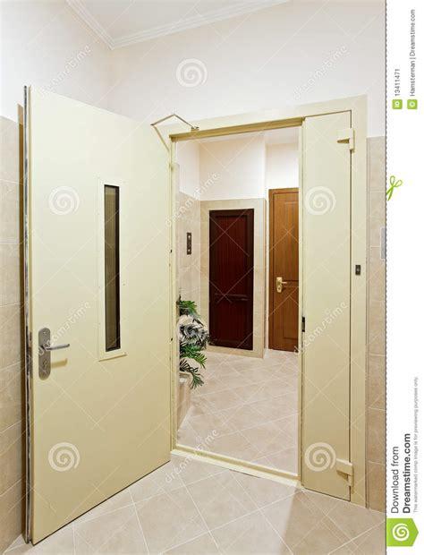 Bedroom Door Opens Into Hallway Modern Interior With Open Door Stock Image Image
