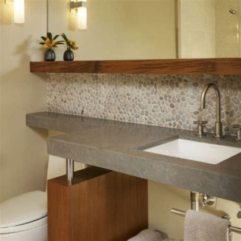 river rock tile backsplash kitchen backsplash