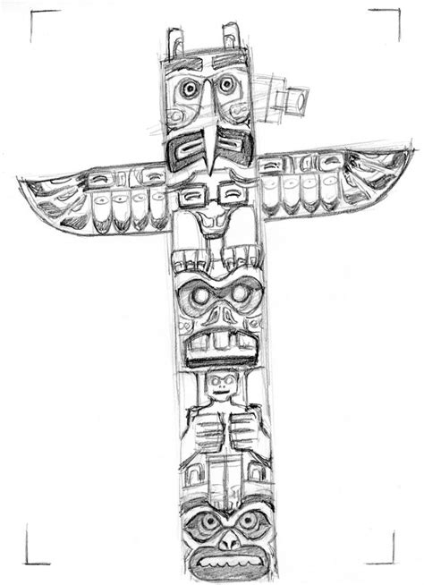 Totem Pole Template by Pin Blank Totem Pole Template On