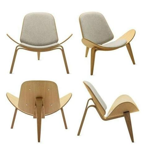Solid wood chair shell chair designer chair living room chair leisure chair (China Manufacturer