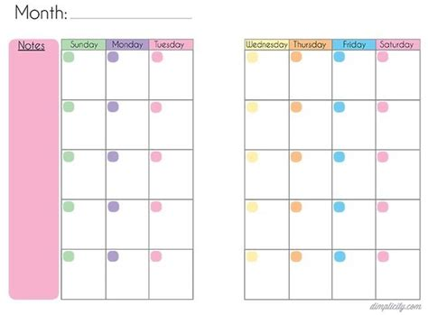 printable blank planner pages 17 best images about blank monthly calendar on pinterest