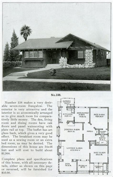 1910 house plans 1910 quot the bungalow book quot wilson design no 158