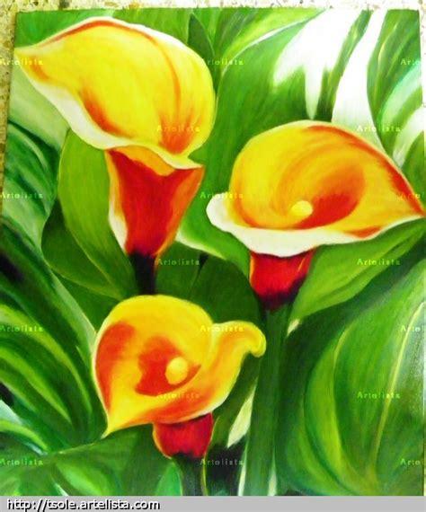 imagenes de flores calas calas amarillas teresa sole ferre artelista com