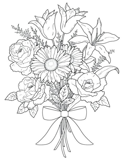 printable mini flowers flower coloring sheets printable small gulfmik 9ca88a630c44