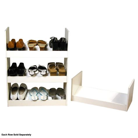 shoe storage stackable venture horizon stackable shoe racks white 4215 11wh