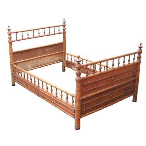 Bamboo Bed Frames with Railed Bamboo Bed Frame At 1stdibs