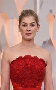 Cocktail Party Hairstyles - rosamund pike 2015 oscars red carpet in hollywood