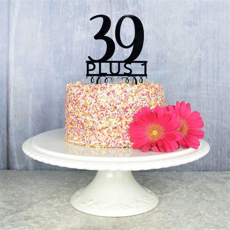 birthday cake topper  pink  turquoise notonthehighstreetcom