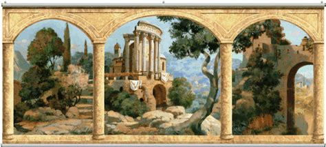 Lowes Wall Murals stone arches tuscany wall mural