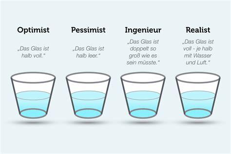 Optimist Oder Pessimist by Management Optimisten F 252 Hren Besser
