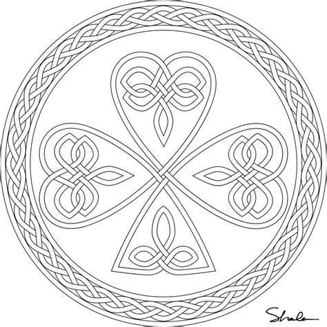 Printable Celtic Coloring Pages Coloring Home Celtic Knot Coloring Pages