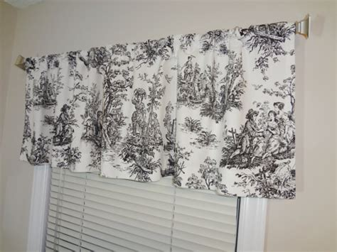 Black Curtain Toppers Sale Curtain Valance Topper Window Valance 52x15 Large Print