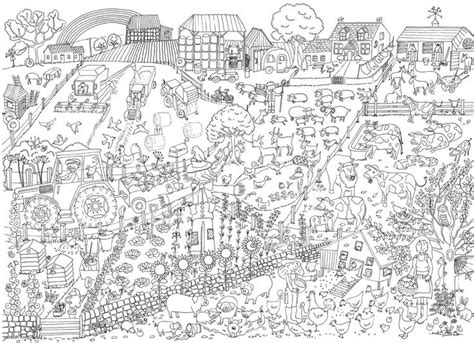 farm coloring page poster coloring pages pinterest