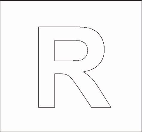 letter r template alphabet stencils all network