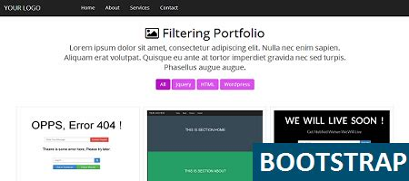 Bootstrap Templates For Beginners | bootstrap filter portfolio template free html