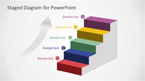 5 Steps Staged Diagram Powerpoint Slidemodel Powerpoint Diagram Templates