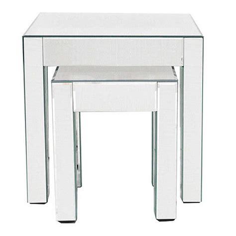 mirrored nest of tables debenhams mirrored nest of 2 tables at debenhams com