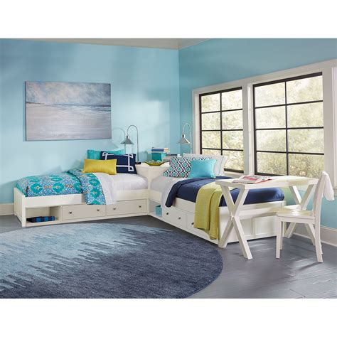 L Shaped Bunk Beds With Storage Pulse White L Shaped Bed With Storage Ne Furniture Childrens