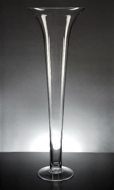 Glass Trumpet Vase by Glass 23 Inch Trumpet Vases