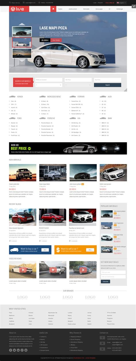 sj live responsive classified joomla template by