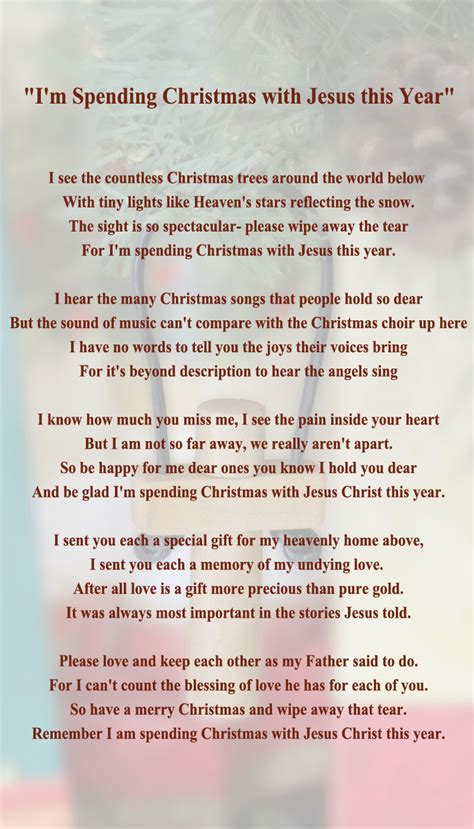 christmas with jesus this year missing you at poems hoiday memorial quotes