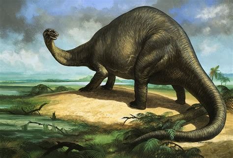 painting dinosaurs apatosaurus painting by william francis phillipps