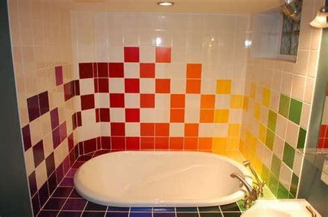 rainbow bathrooms home interior and exterior design rainbow tiles paint