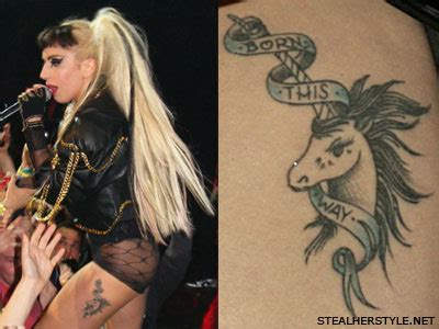 lady gaga rose tattoo gaga unicorn venice designs