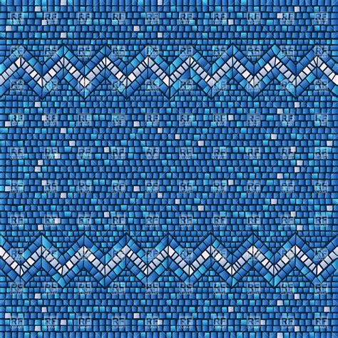 mosaic background blue ceramic tile seamless mosaic background vector