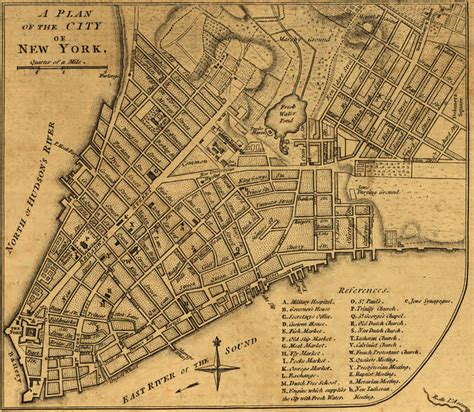 new york 1776 map history of nyc streets why is there a king