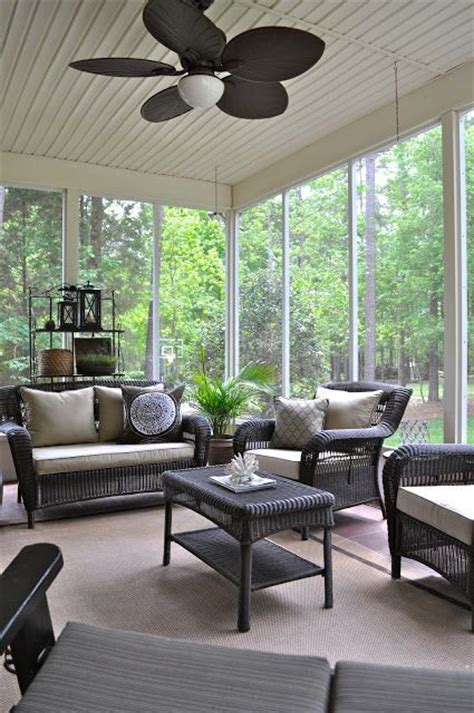 27 Screened And Roofed Back Porch Decor Ideas Shelterness Screen Porch Furniture Ideas