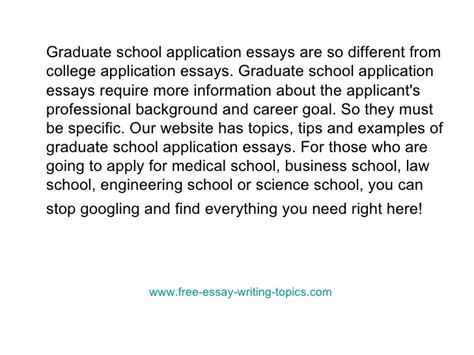 College Application Essay About Goals Essays For Graduate School Entrance Writefiction581 Web Fc2