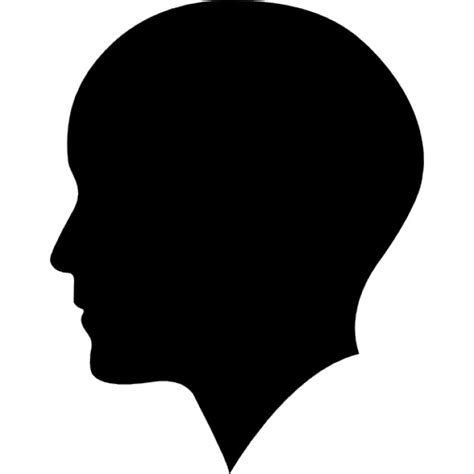 Headl Icon Black with bald hair side view icons free