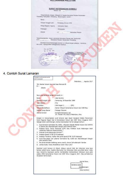 format surat lamaran cpns 2017 kementerian pertanian cpns kemenkumham go id 2017 cara mendaftar online cek