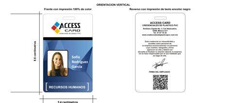 formato para credenciales de trabajo ejemplos de credenciales para empresas credenciales en pvc