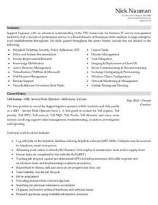 Desktop Analyst Sle Resume by Help Desk Resume Format Bestsellerbookdb
