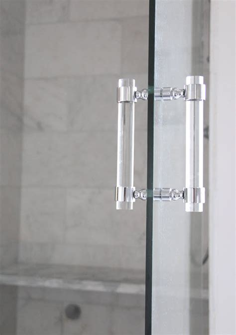 Shower Door Pull Handles Lucite Shower Door Pull Handles Pair Brass Satin Brass