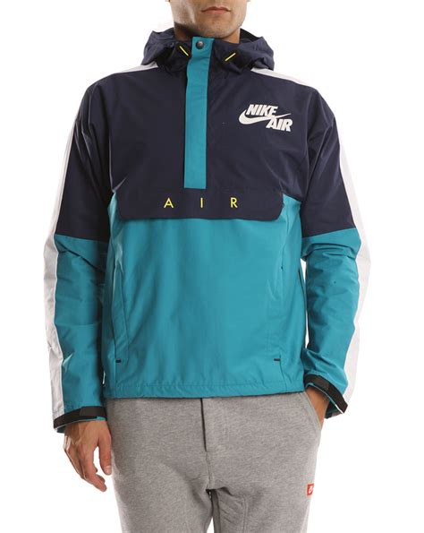 nike windbreaker nike turquoise navy and white windbreaker jacket in blue
