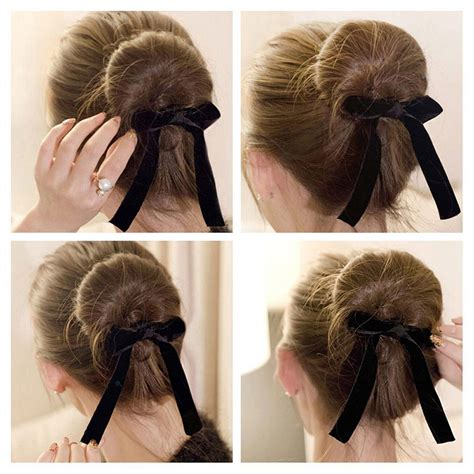 hairstyles with a bun maker magic ribbon french twist bun maker curler braid ponytail