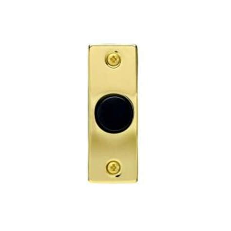 iq america wired doorbell push button gold and black dp