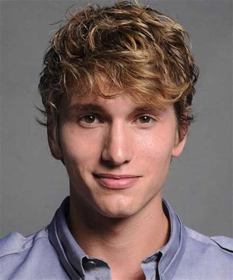 mens haircuts blonde curly mens hairstyles for thick wavy hair mens hairstyles 2018