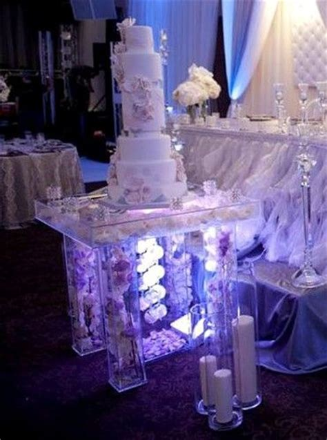 hand  lucite acrylic cake table deluxe handcrafted custom sizing  rent