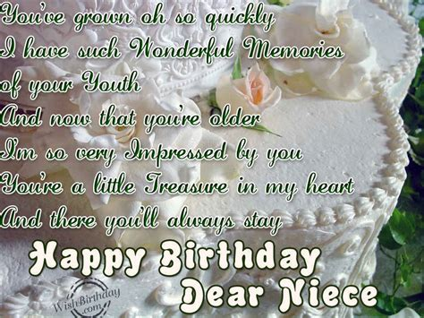 Birthday Quotes For A Special Niece Happy Birthday Dear Niece Wishbirthday Com