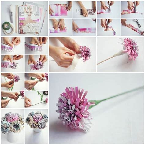 Pinecone Decor Diy Beautiful Flowers From Old Magazine