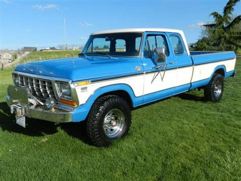 buy used 1978 ford f250 ranger xlt 4x4 60s air cc