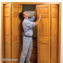 How To Fix A Sliding Closet Door How To Fix Stubborn Bifold Closet Doors The Family Handyman