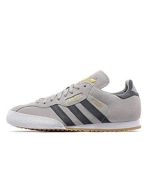 Adidas Samba Classic Grey Running Sneakers Sport Casual Santai 1 adidas originals samba jd sports