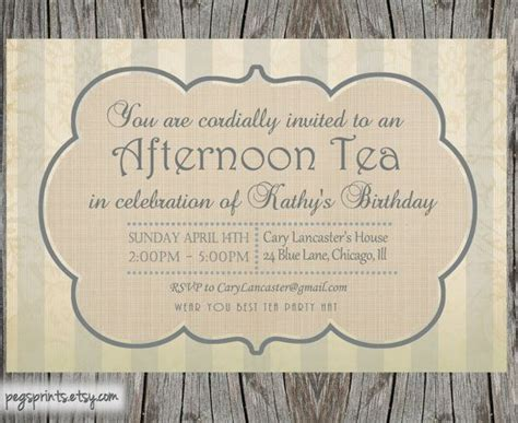 free printable invitations afternoon tea high tea bridal shower invitation printable